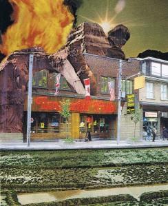 Imperial Pub Burning